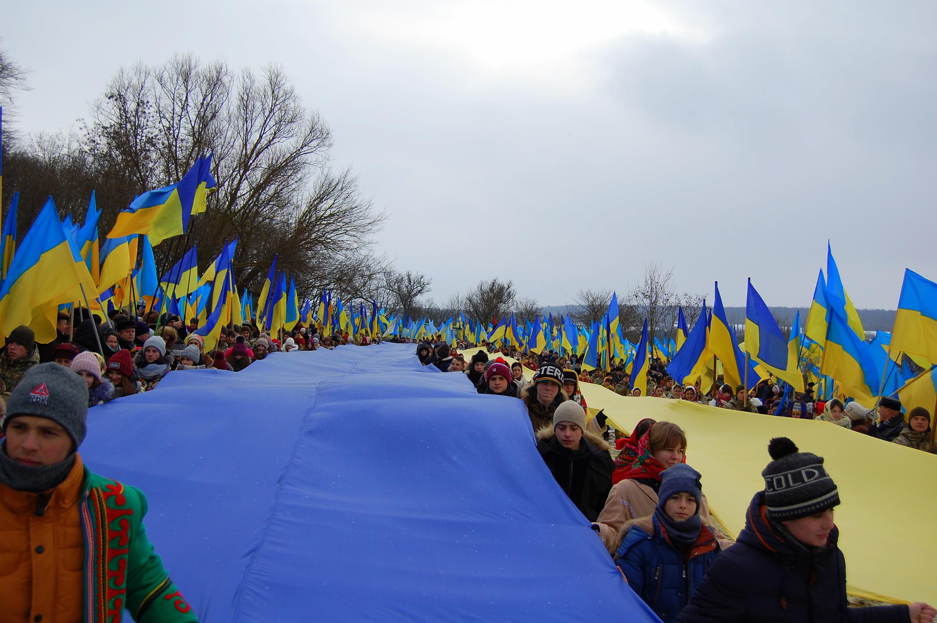 Хмельниччина та Тернопільщина встановили рекорд до 100-річчя Соборності України